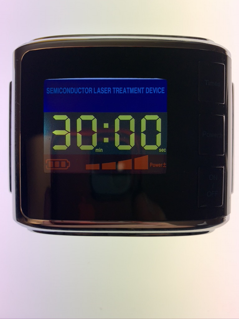 Laser watch 650nM to trigger the agent in blood vessels attached to infections: